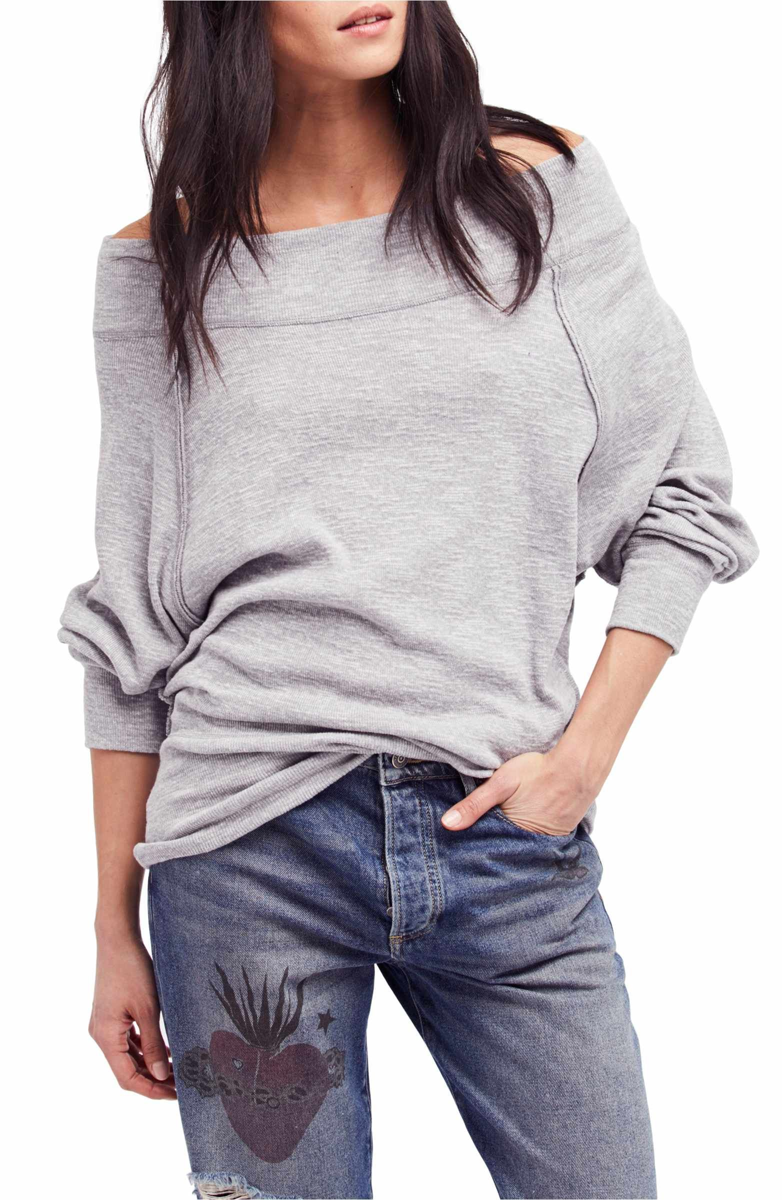 6b05f0a05856c Kind of a raglan   Love this... Free People Palisades Off the Shoulder Top