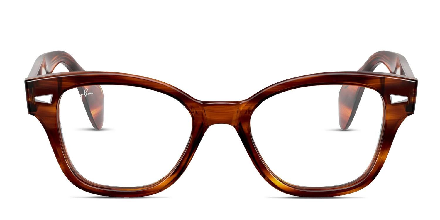 Ray-Ban RX0880 Tortoise Square Online Eyeglasses - Price includes high quality frames, standard prescription lenses, shipping, free case and cloth. Medium Tortoise Full Frame Plastic Online Eyeglasses. These Square , Classic Wayframe , Geometric shaped Online Eyeglasses are great for Oval , Round shaped faces. Look great in your stylish Online Eyeglasses. Only $183 - includes shipping!