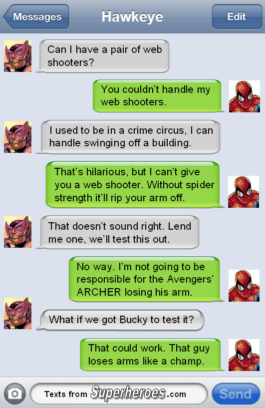 Texts From Superheroes - The Best Of The Avengers (3)