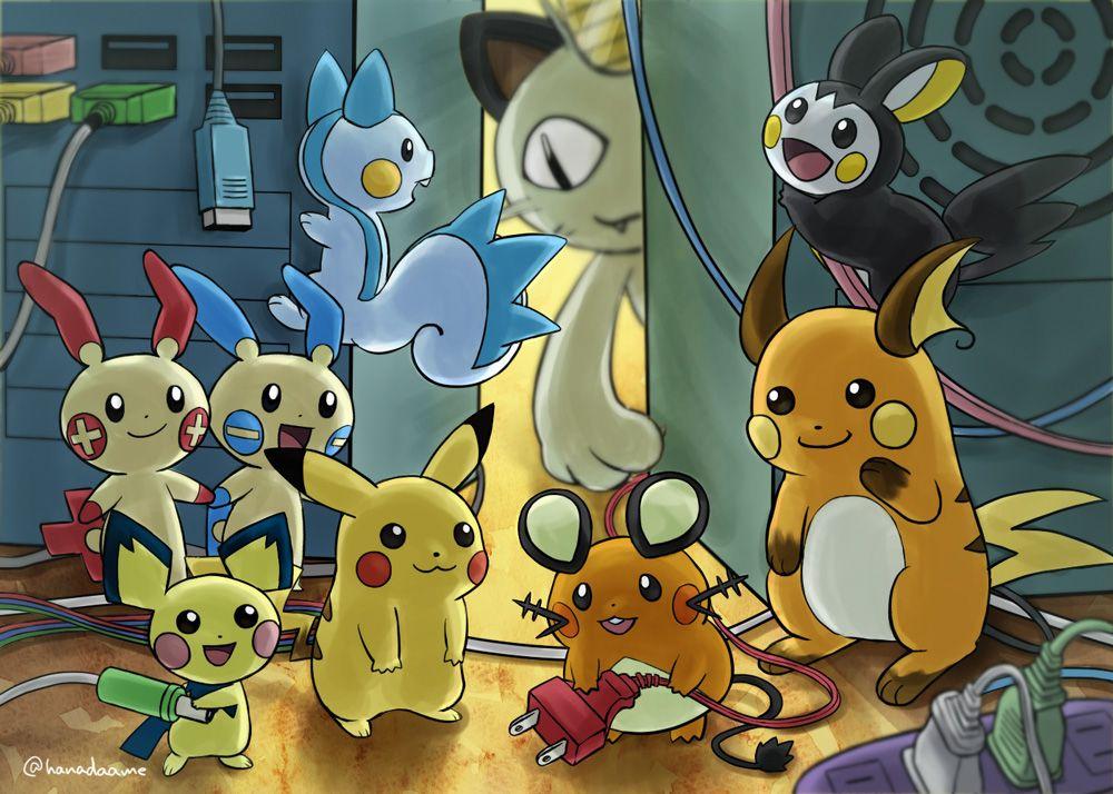 Pokemons Has Electric Cheeks デデンネピカチュウライチュウ