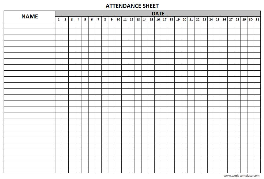 Pin on Attendance Sheet Template