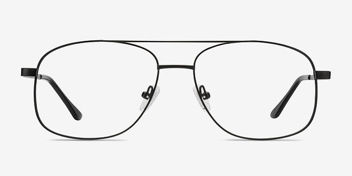 4db7dfe9a9c Chronicles Matte Black Metal Eyeglasses from EyeBuyDirect. Exceptional style