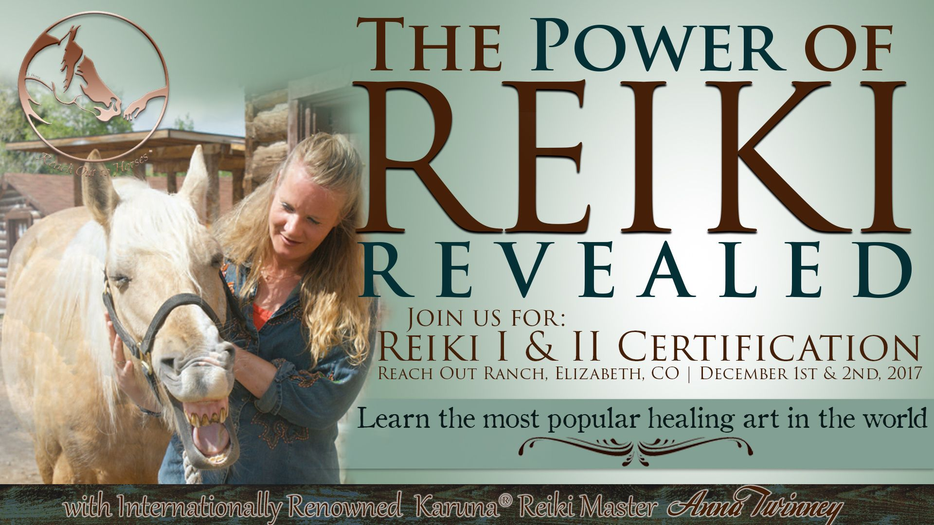 Reiki classes level I and II in Franktown, CO! Visit the