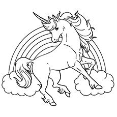 Unicorn Coloring Pages Rainbow Unicorn