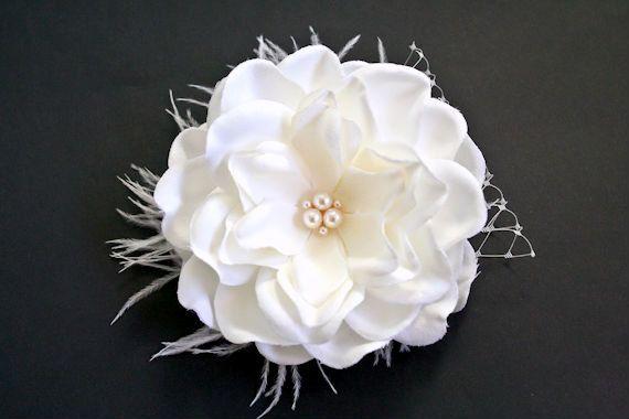 Bridal Ivory Gardenia Hair Flower Wedding Bridal Accessories Wedding Hair Accessories Flowers In Hair Flower Fascinator