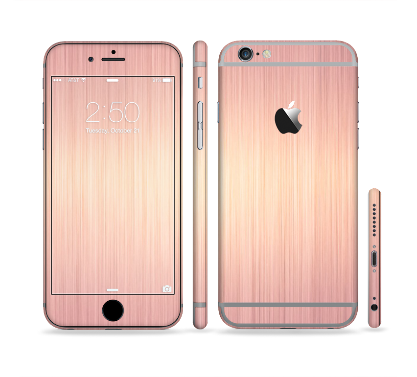 The Rose Gold Brushed Surface Sectioned Skin Series For Apple IPhone 6s Plus