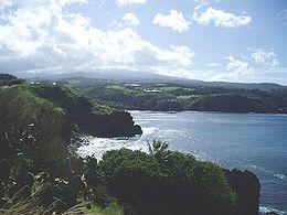 Honolua and Mokule'ia Bay from Lipoa Point. Maui Hawaii