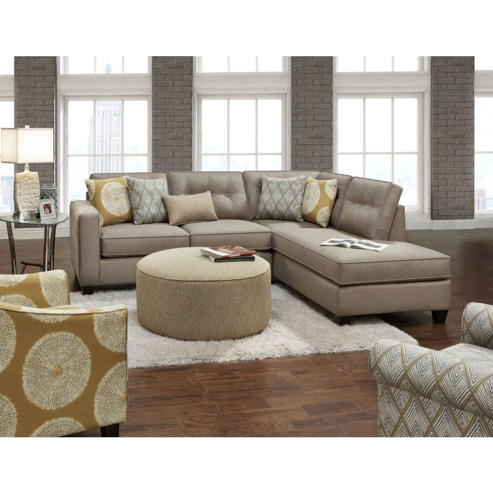 Fusion Furniture The 3515 16 Maxwell Taupe Sectional
