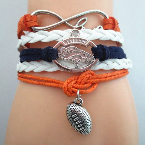 Infinity Love Denver Broncos 2016 Football Bracelet BOGO