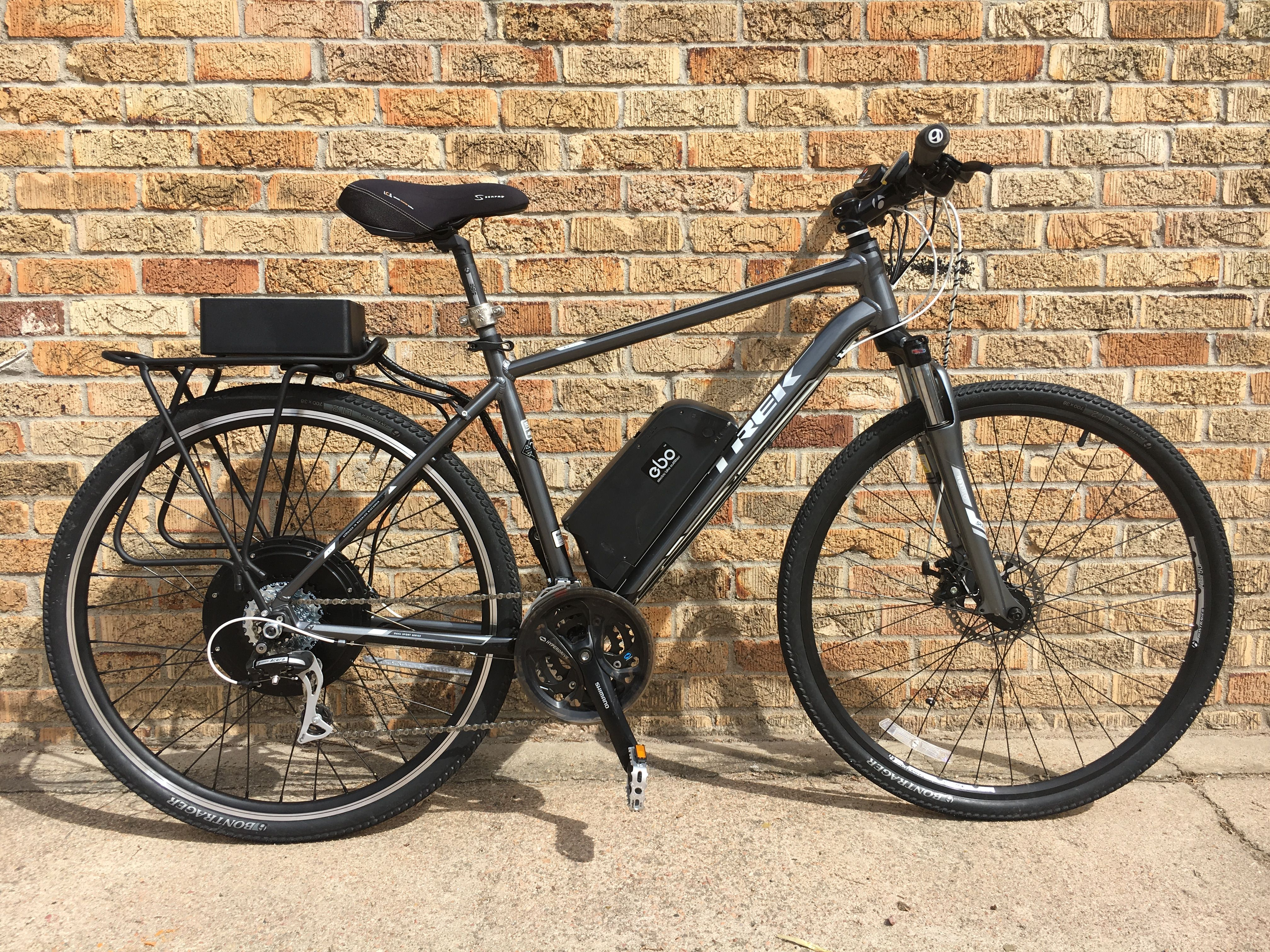 Ebo Mountaineer Electric Bike Kit Installed On A Trek 8 3 Ds Bike