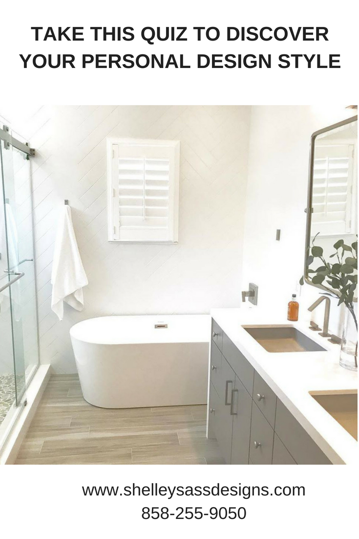 Discover Your Design Style Today By Taking My Quiz Bathroom Designed By Shelley Sass Designs W Small Apartment Bathroom Bathroom Design Modern Bathroom Design