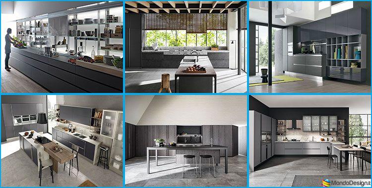 Migliori Marche Cucine Moderne.Cucine Moderne Grigie 22 Modelli Delle Migliori Marche