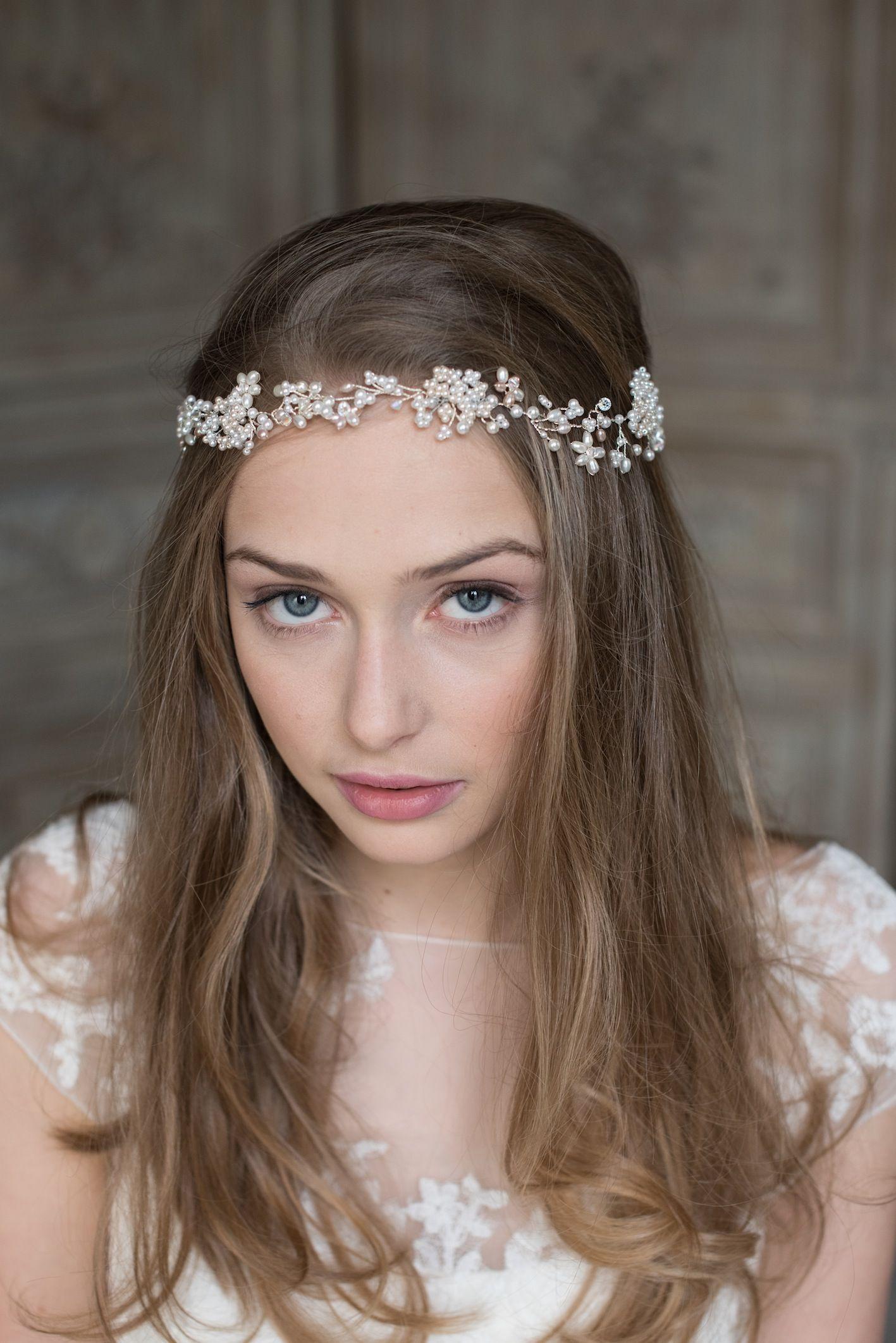 verity wedding hair vine like tiny flowers in the hair gently