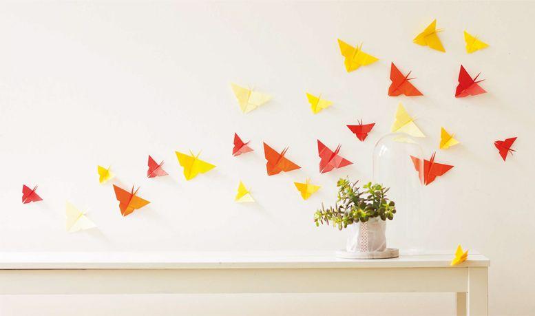 Eulenschnitt Artprint Origami Herz gold Din A4