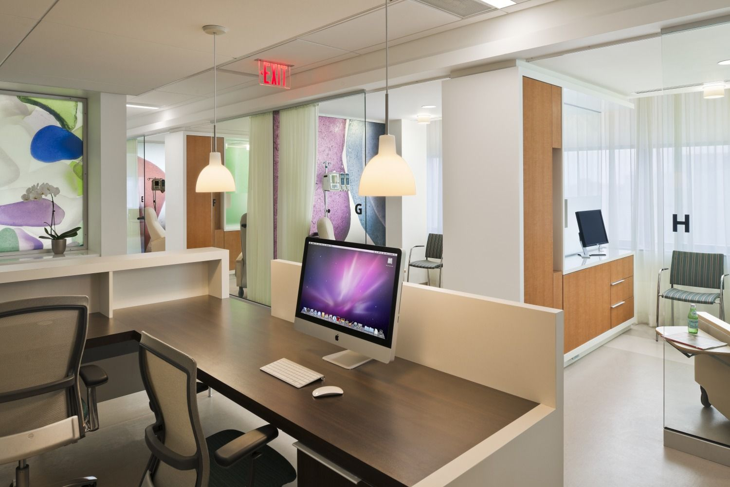 Ballinger Interior Design Healthcare Weill Cornell Oncology Infusion Center