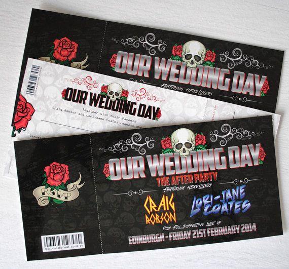 Photo of Rock Konzert Hochzeitseinladungen | Rock Music Festival Wedd …