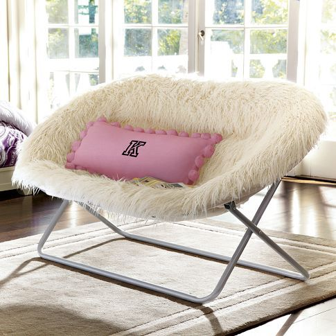 Furlicious Hang A Round Double Chair, Ivory