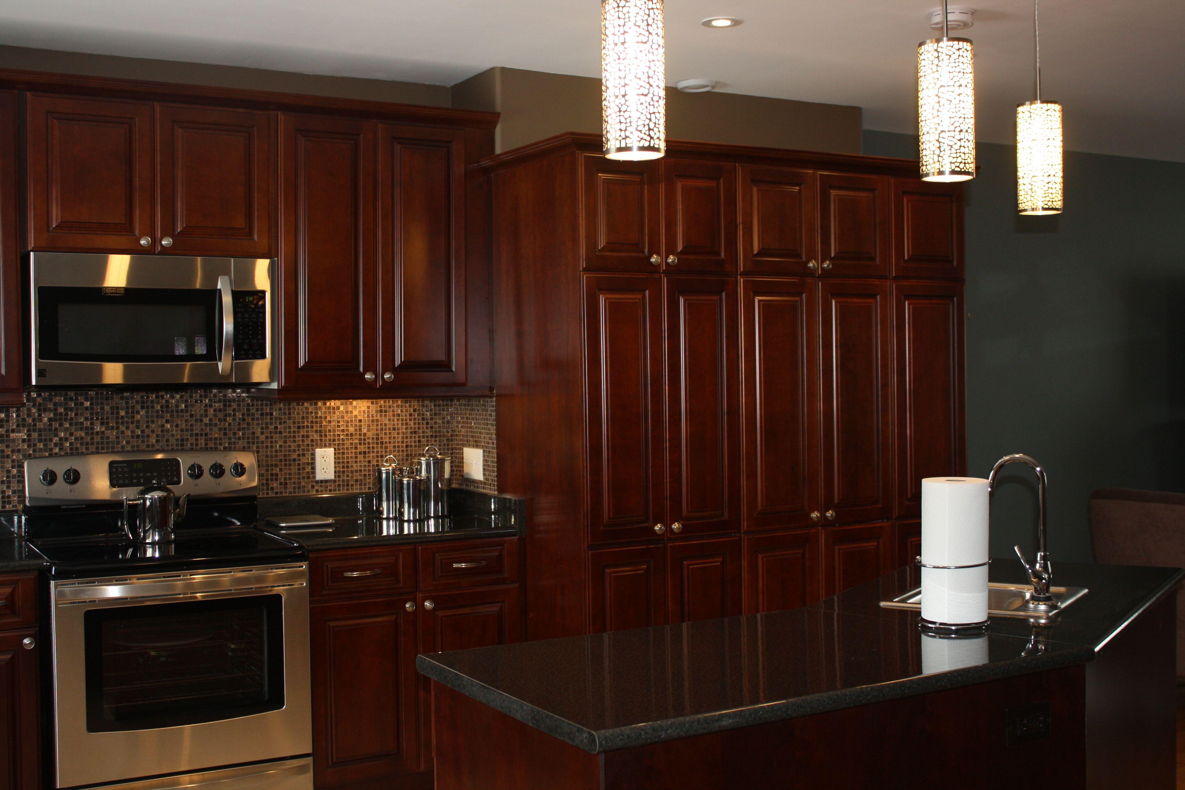 Halifax NS, Kitchen Remodel, Maple Cabinets, Granite Counter Tops, Tile Back Splash, Modern Appliances