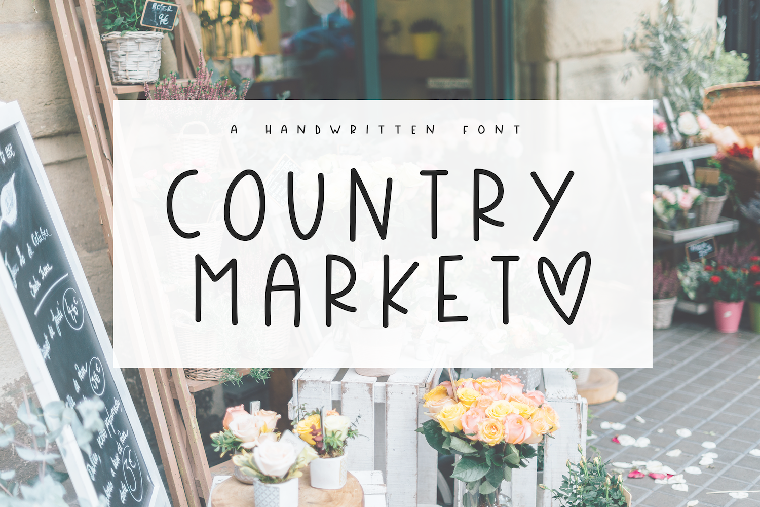 Country Market A Handwritten Display Font All caps