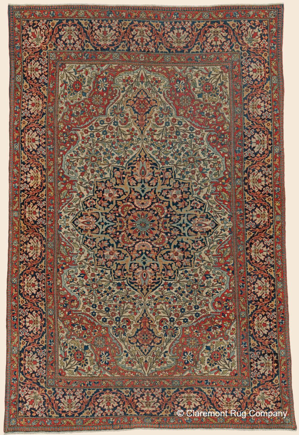 Antique Persian Mohtasham Kashan Area Size Antique Rug 4 6 X 6 7 3rd Quarter 19th Century In 2020 Claremont Rug Company Rug Company Antique Rugs
