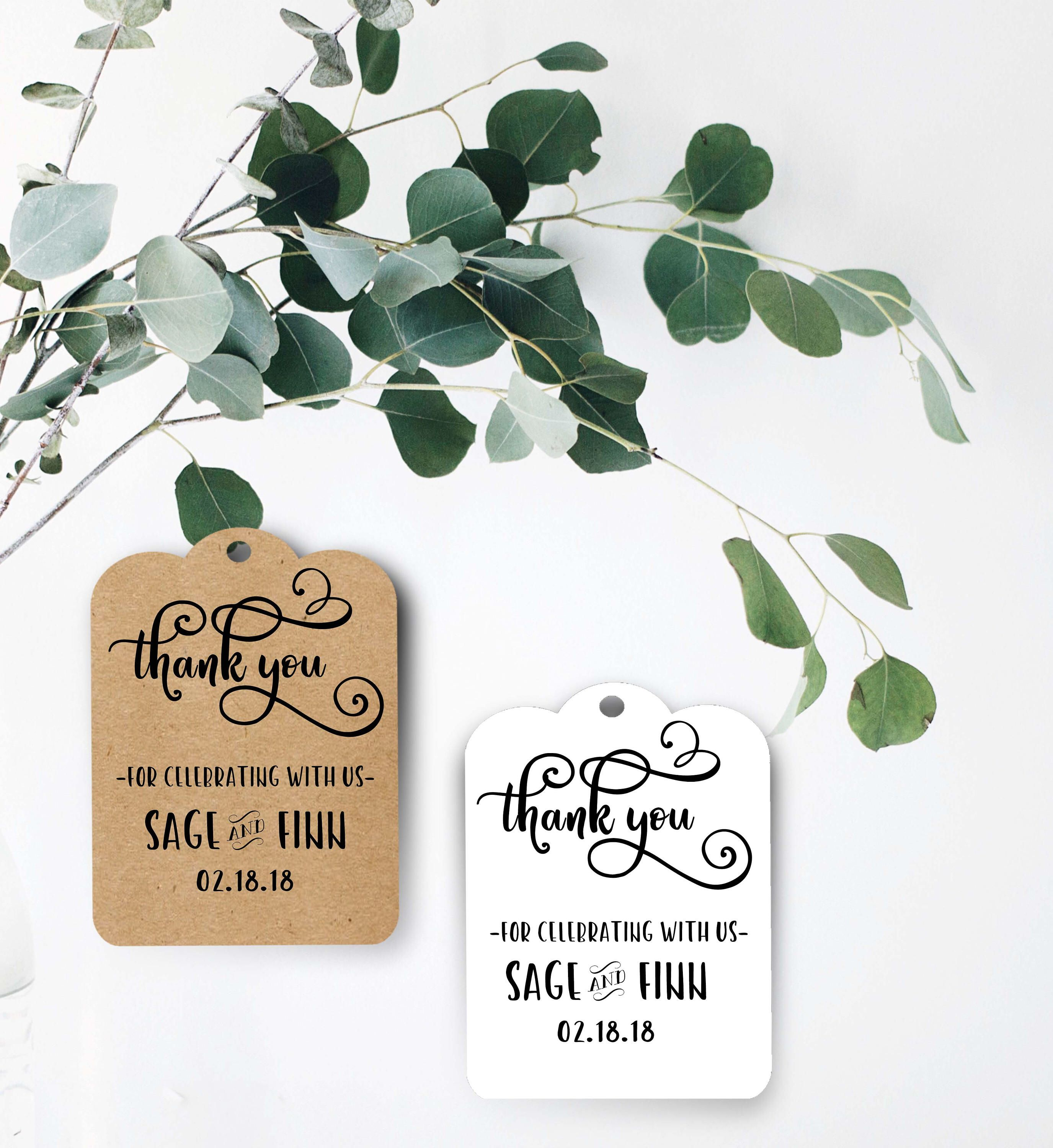 Wedding Tag/ Drink Tags/ Wedding Favors/ Wedding Favors/ Thank You ...