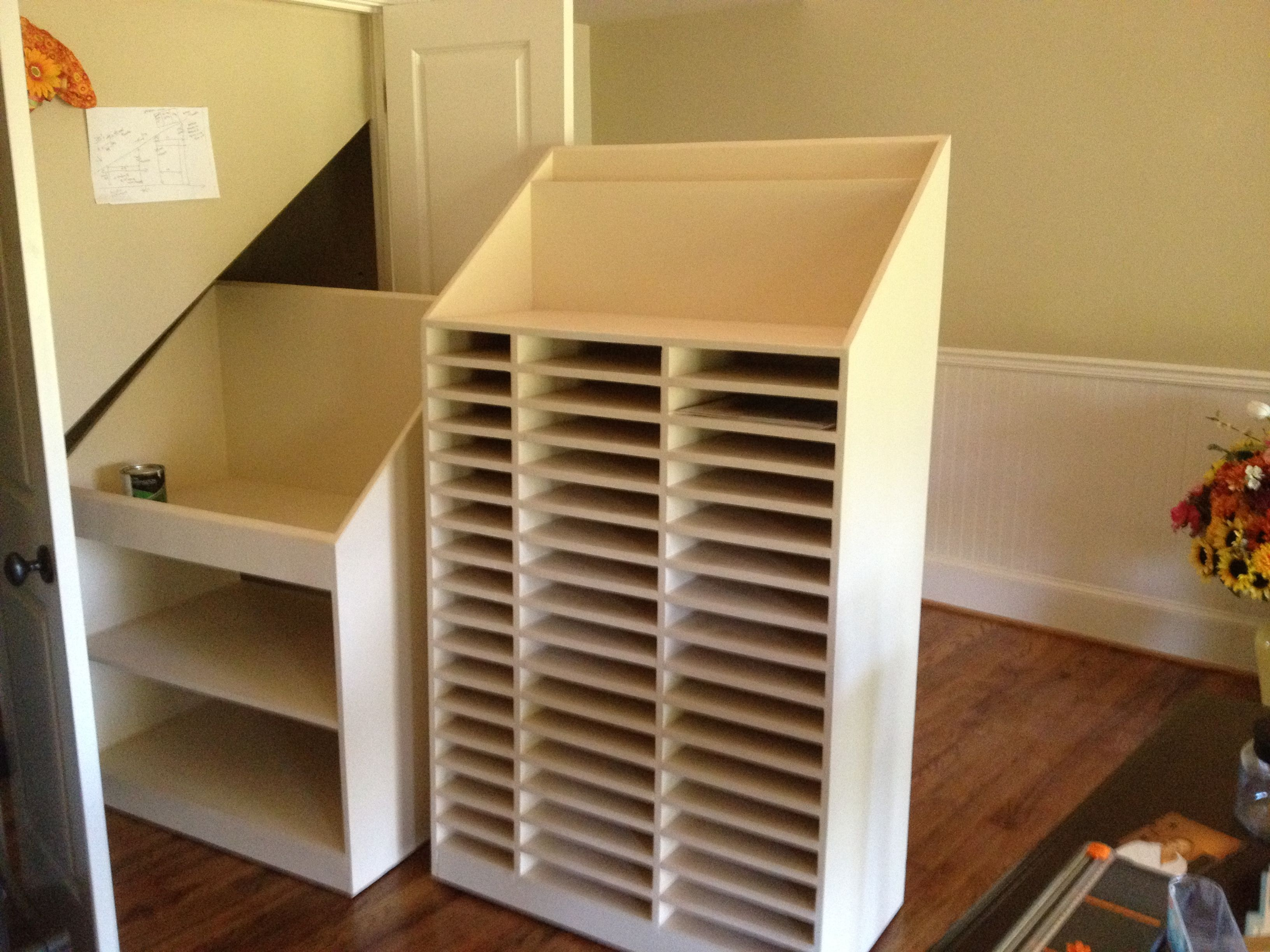 Custom closet too heavy would build with thinner