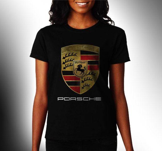 Porsche Gt Logo Women Black Shirt XS S M L XL Rare by CahyaAbadi, $23.50