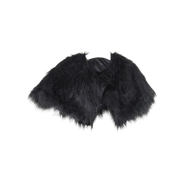 Single Buckle Shawl Styling Black Cloak ($38) ❤ liked on Polyvore