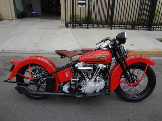 1937 Harley Davidson Knucklehead El Ohv Repined By Www