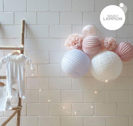 Lampions À Accrocher Au Mure D'Une Chambre De Bébé | Maman
