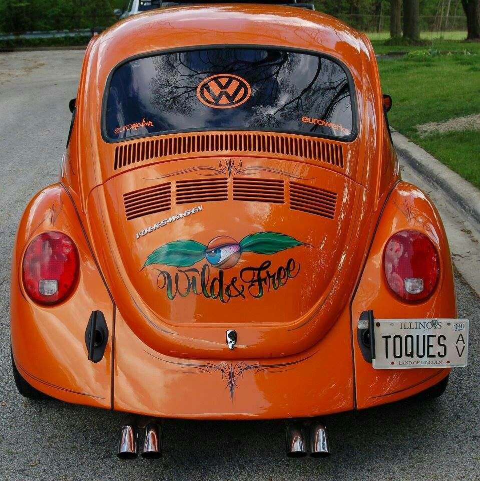 Orange VW bug ~ love this color!