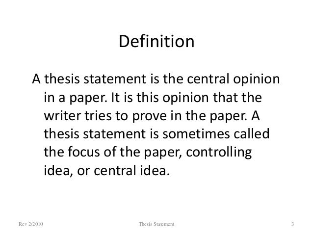 Image Result For What Is Thesis Statement Definition Unit