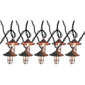 Allen Roth 10 Light Clear Silver Lantern Patio String Lights Lowes