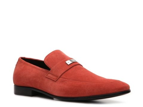 Gucci Suede Nameplate Loafer