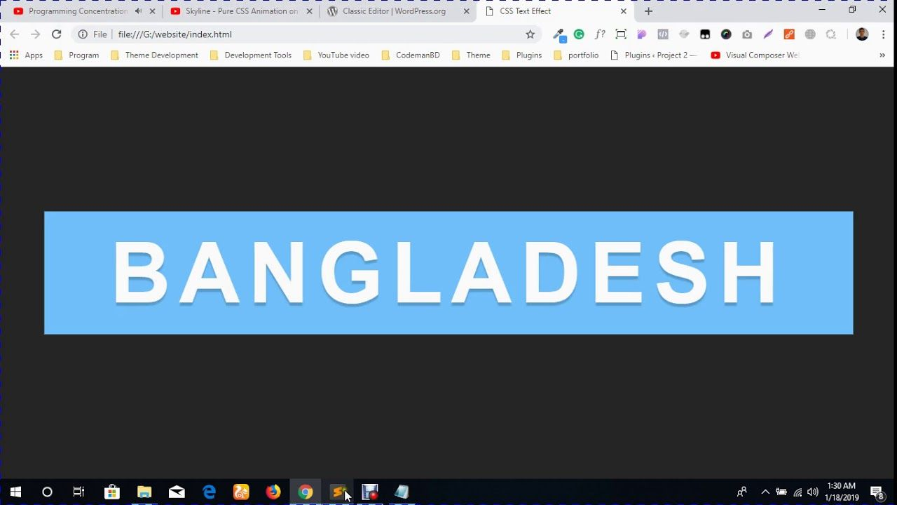 Skyline Pure CSS Animation on Hover CSS Text Hover Effect