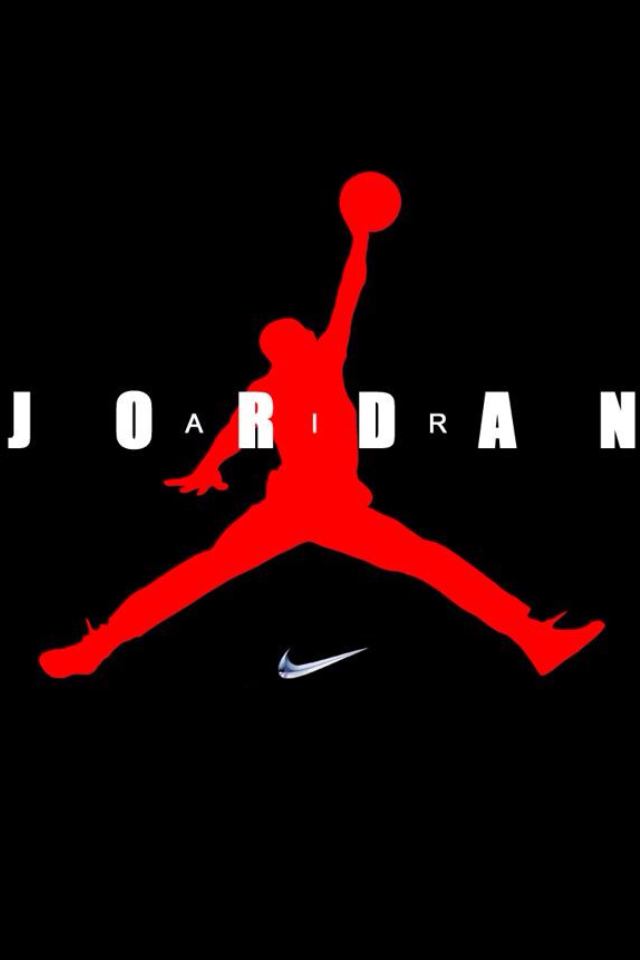 Nike Jordan Logo | Air Jordan Nike Logo download wallpaper for iPhone