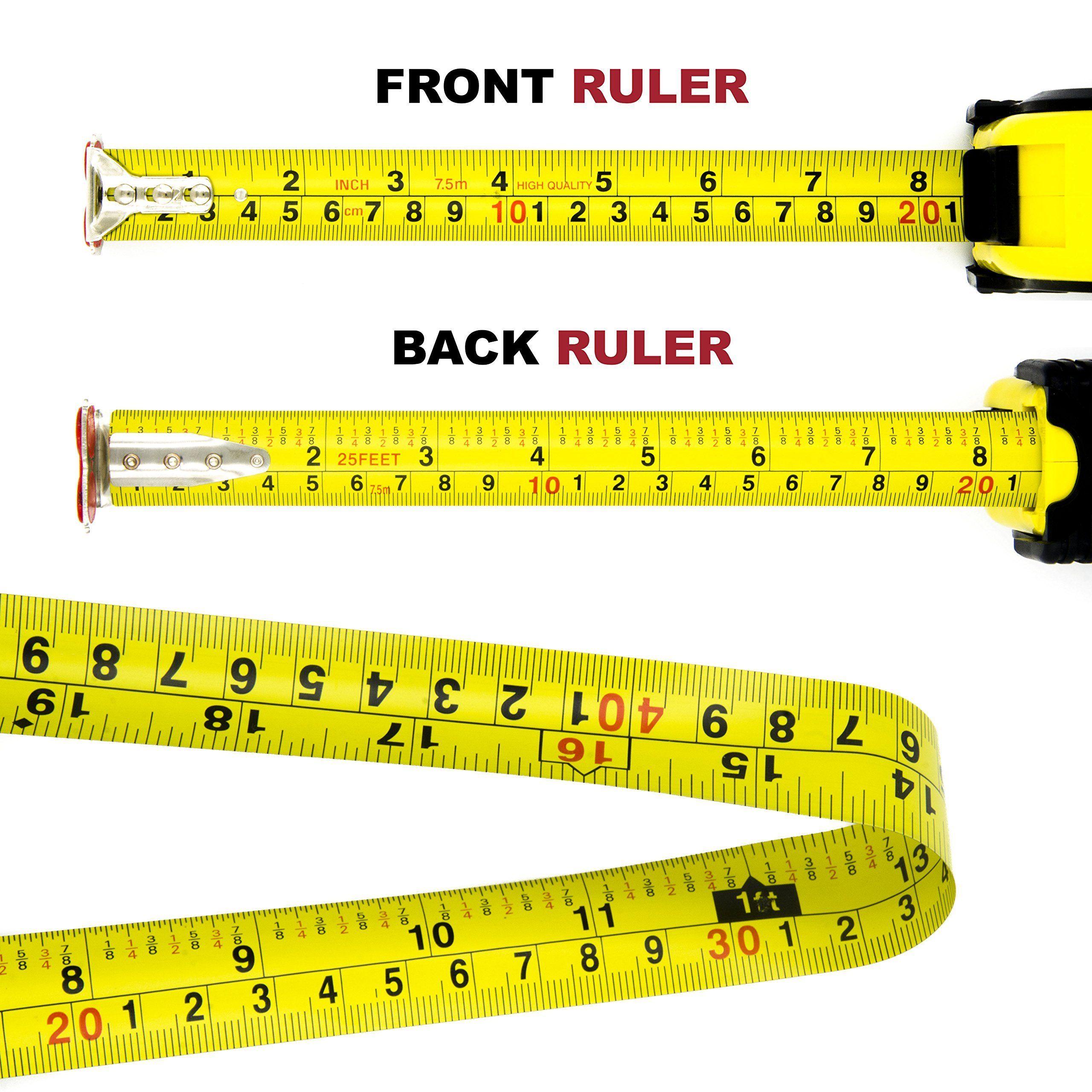 Measuring Tape Measure By Kutir Easy To Read 25 Foot Both