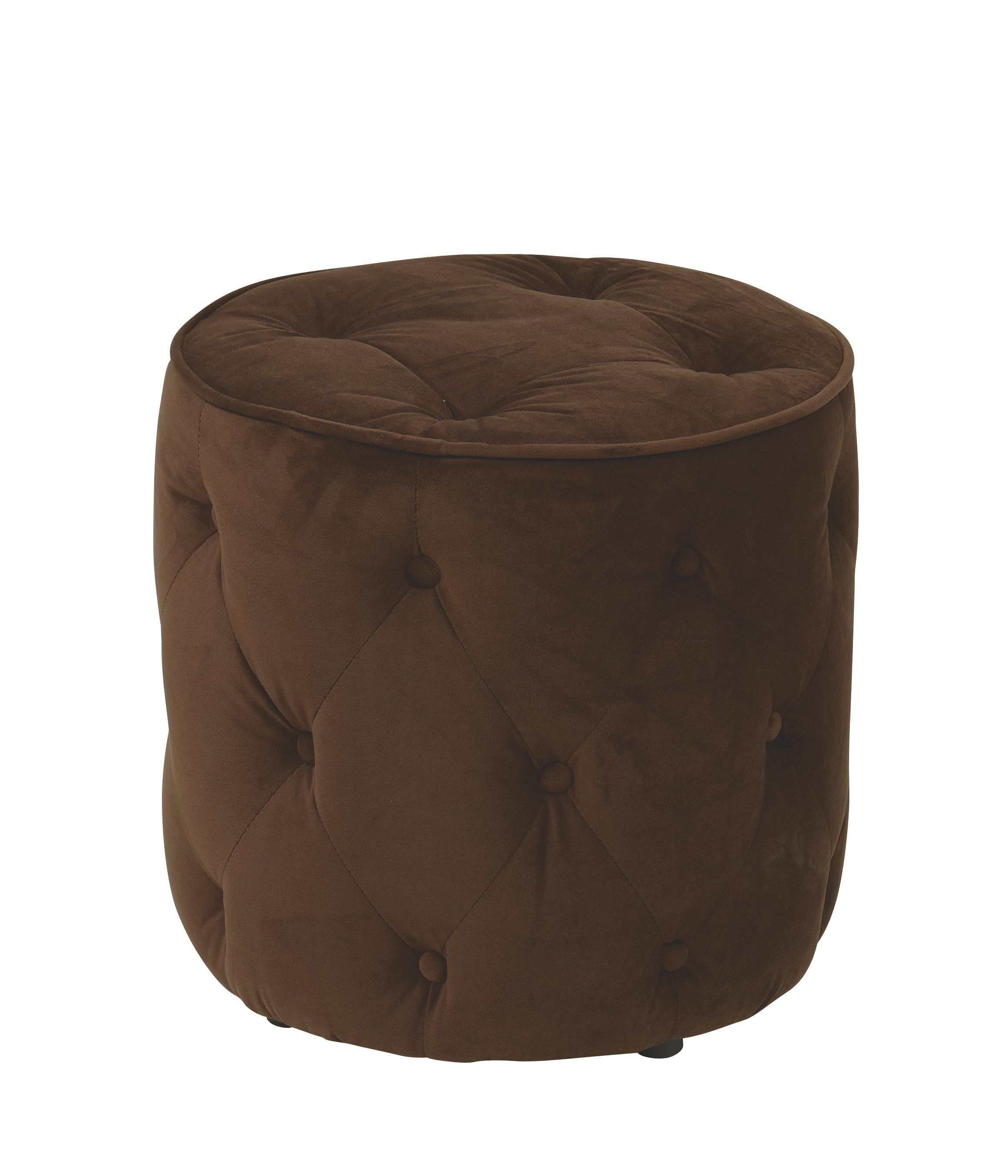 fice Star Chocolate Curves Tufted Round Ottoman