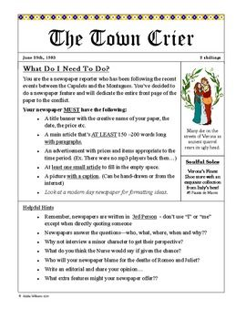 Business Essays Romeo And Juliet  Newspaper Project  Creative Writing  Custom Essay Papers also How To Learn English Essay Romeo And Juliet  Newspaper Project  Creative Writing  Example Of A Thesis Essay