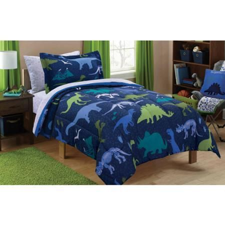Walmart Bedroom Sets Inspiration Mainstays Kids Dino Roam Bed In A Bag Bedding Set  Walmart 2018
