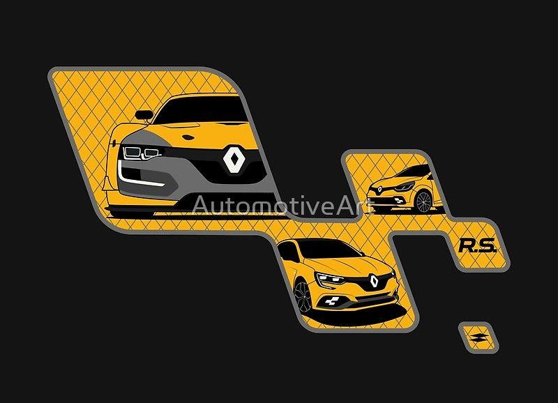 Renaultsport Art Print Art Prints Renault Laguna 3 Clio Cup