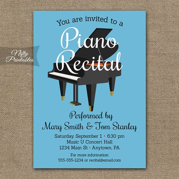 Piano recital invitations printable piano concert invites music piano recital invitations printable piano concert invites music concert invitation musical orchestra invitation recital announcement thecheapjerseys Image collections
