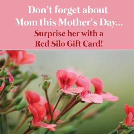 Don't forget about Mom this Mother's Day! If you are anything like me you wait until the last minute as well. #mothersday #giftcard #theredsilo #mom
