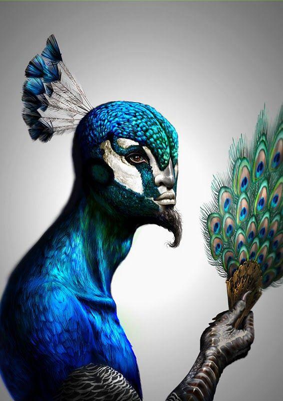 20d2a6433 Fabulous creatures by Antoine Helbert #peacock #makeup | Masks | Art ...
