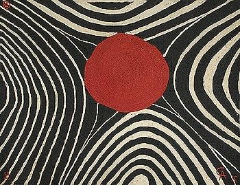 ALEXANDER CALDER, Zebra weaving, 1975, maguey fiber, 72½ h x 99 w in (184 x 251 cm). Initialed 'AC' in the weave. Number 58 from the edition of 100.