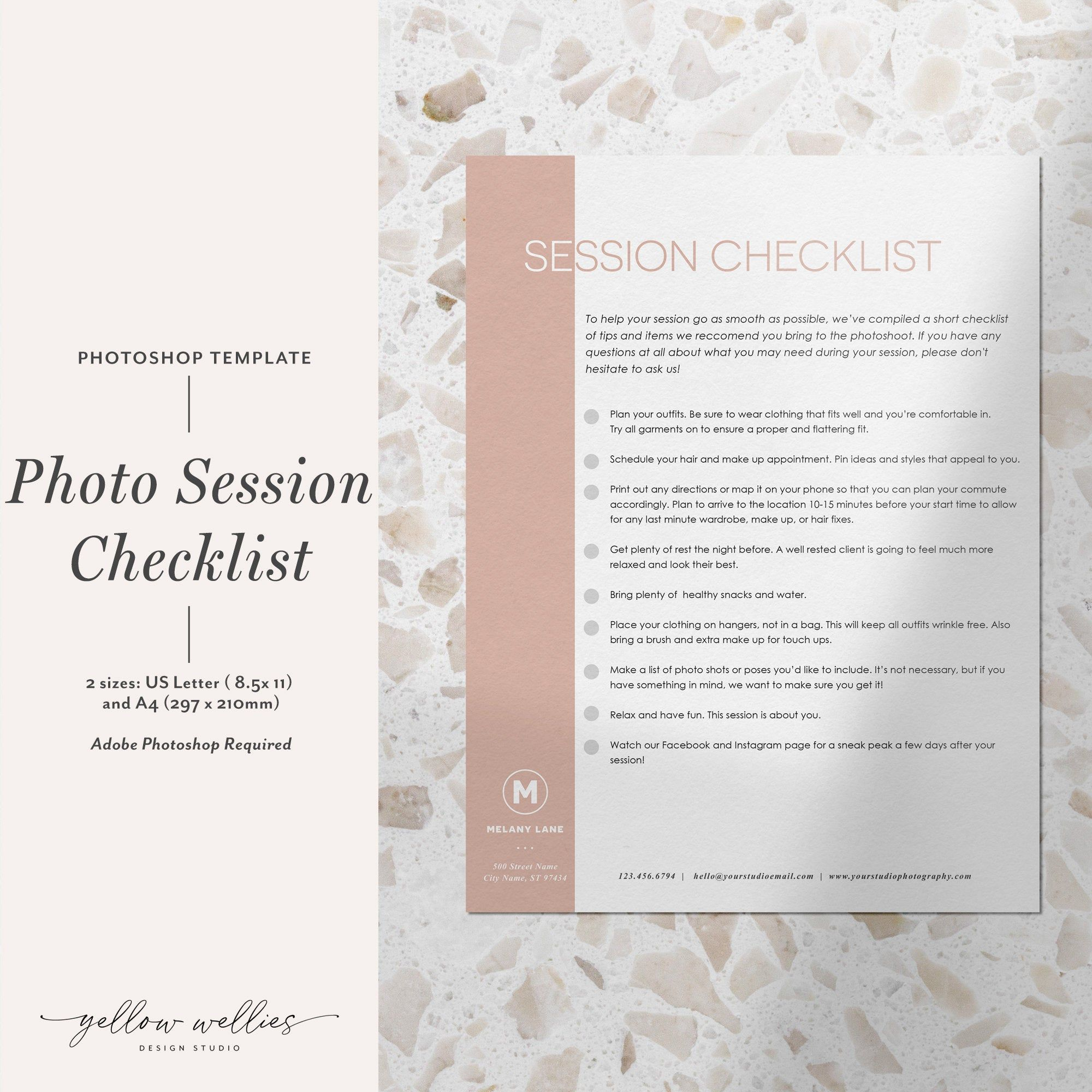 Photoshop Photography Session Checklist Photo Session Etsy Photoshop Photography Photoshop Photo Sessions