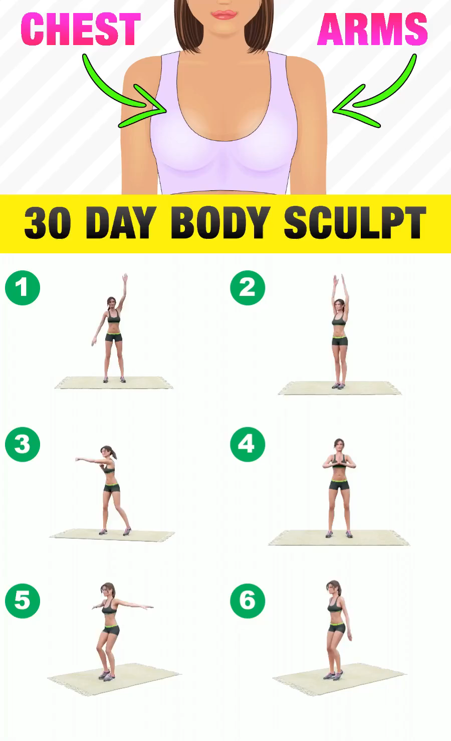 30 Day Body Sculpt Video Workout Videos Gym Workout For Beginners Arm Workout