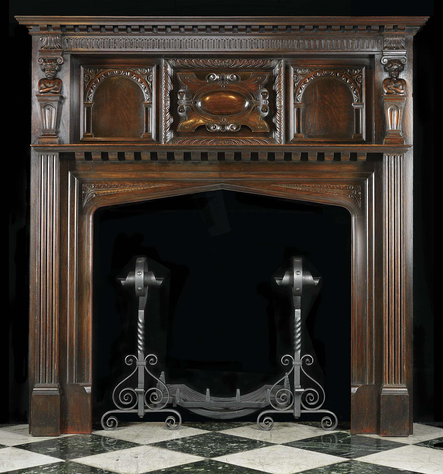 Unique Fireplace Mantels antique fireplace mantel décor - http://www.skysangels/antique