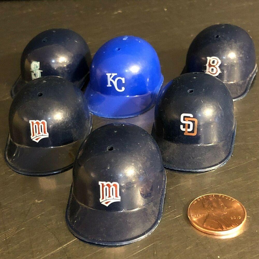 Vtg Mlb Baseball Batting Helmets Gum Ball Prizes Set 6 Free Shipping Royals Batting Helmet Mlb Baseball Mlb