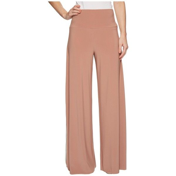 eb1047708 KAMALIKULTURE by Norma Kamali Side Stripe Elephant Pants (Rose... (535 PEN